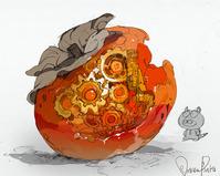熟れ過ぎた柿