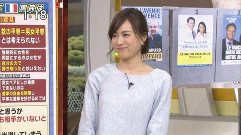 ニンマリ笑う笹川友里