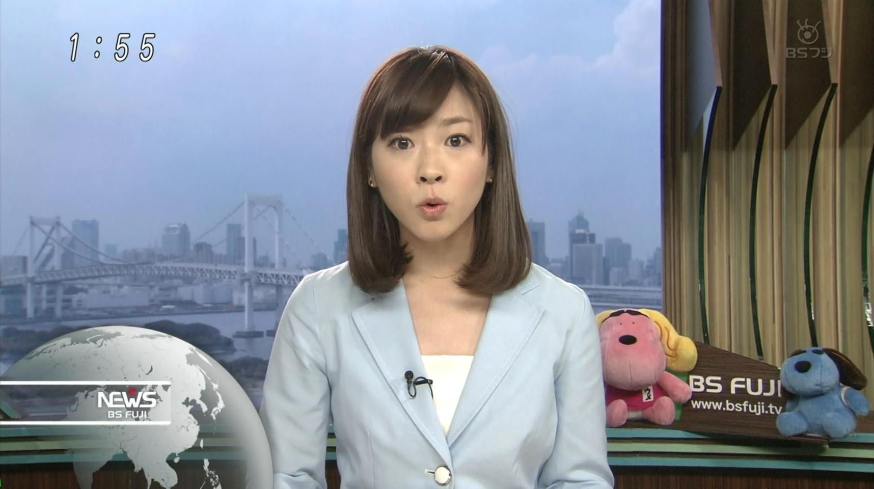 三上真奈 BSフジニュース 13/07/28:女子アナキャプでも貼っておく ~乙HiME~