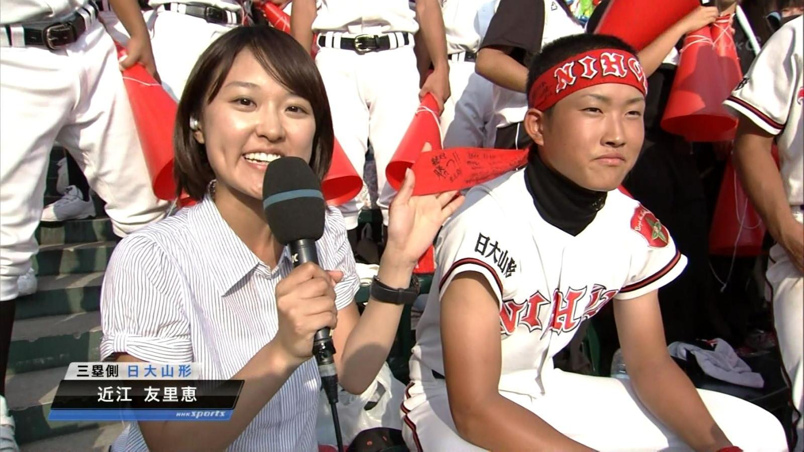近江友里恵アナウンサーのストライプ