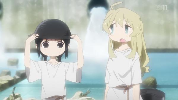「少女終末旅行」2話感想 吹雪の怖さ、お風呂に入れる幸せ、危なっかしく愛らしくOP&EDも素敵!(画像)