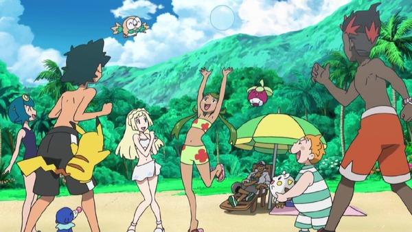 「ポケットモンスター サン&ムーン」12話感想 皆で海で水着回!キテルグマの勝利キャンセル、コジローは新ポケ・ヒドイデをゲット!!(ポケモンSM、画像)