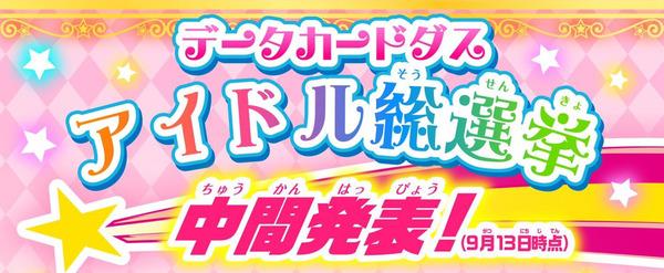 『アイドル総選挙』最新中間発表 (1)