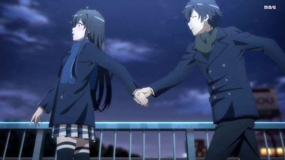 「俺ガイル」第3期 第11話感想 画像 これが観たかった!八幡が手を握り、ゆきのんと2人で恋を認めるまでの物語。ここまで長かった!「やはり俺の青春ラブコメはまちがっている。完」