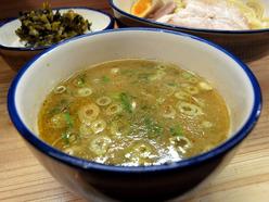 麺や 天四郎 味玉つけ麺(つけ汁)