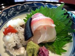 京料理・京の宿 菊水 向付(鯛のお造り)
