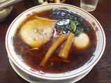 金久右衛門 黒醤油+平打麺