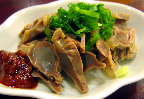 上海料理 金国 砂肝の塩づけ蒸し物
