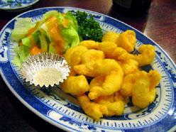 上海料理 金国 えびの天ぷら