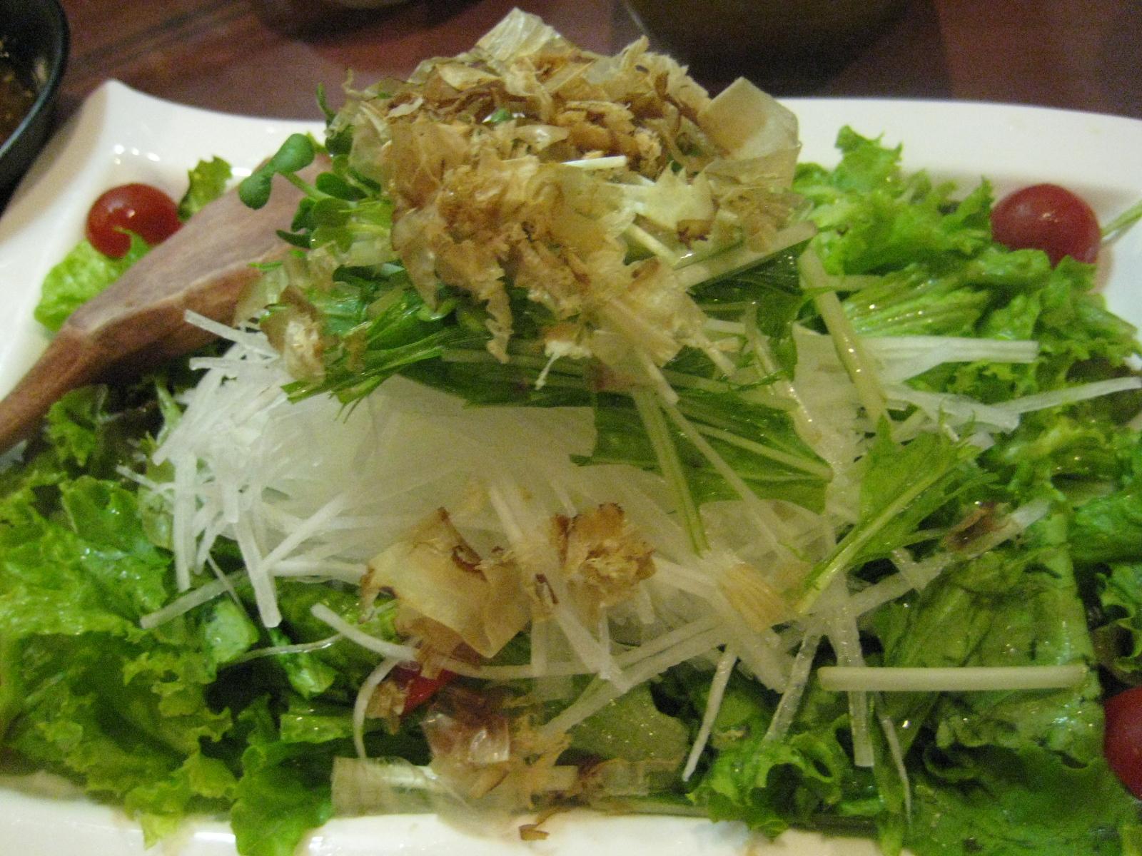 豆腐とはり大根のサラダ480円