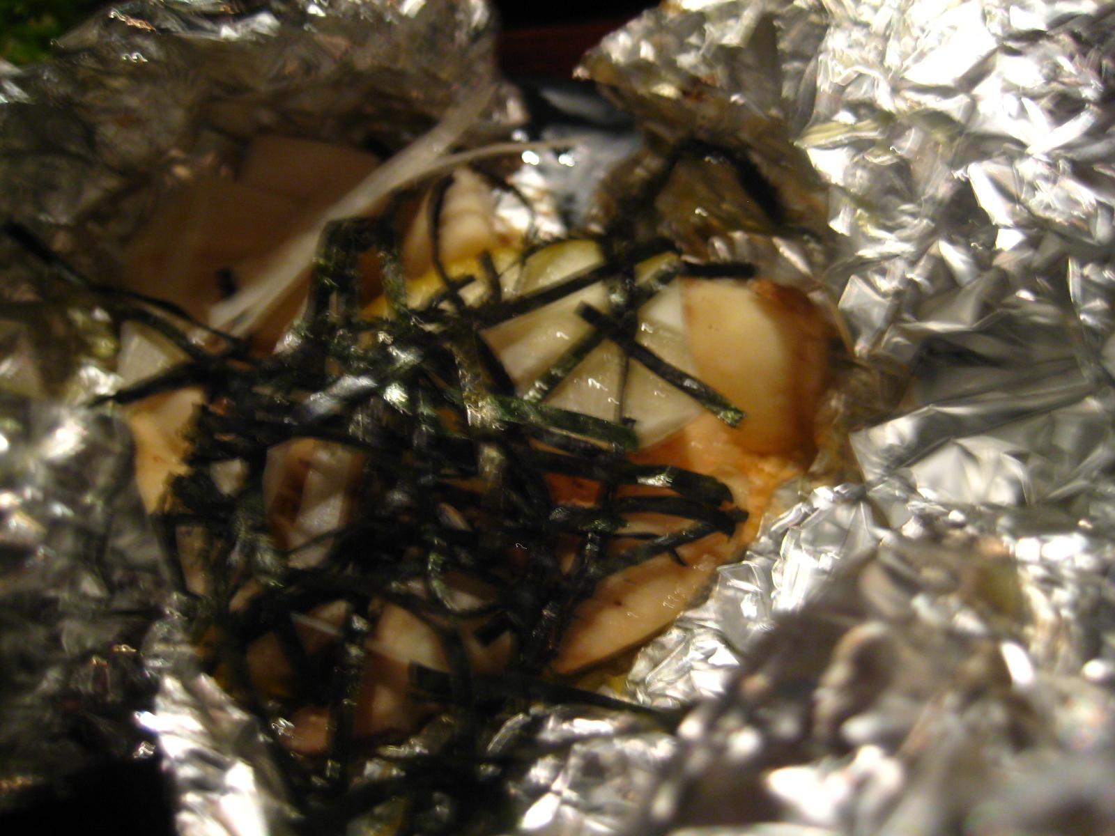 エリンギの明太子ボイル焼き380円