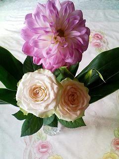 花束をいただきました