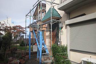 下屋の修復工事
