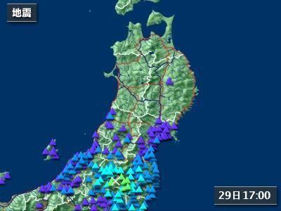 去年も「震度4」の地震が
