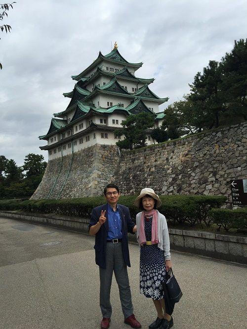 視察最終日は、名古屋城見学と「ひつまぶし」の名店へ