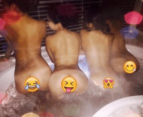 【流出】お風呂場でふざけて撮っちゃた女子たち