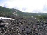 雪渓からの景色