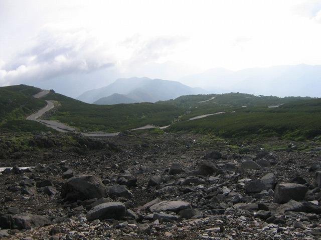 大雪渓からの景色