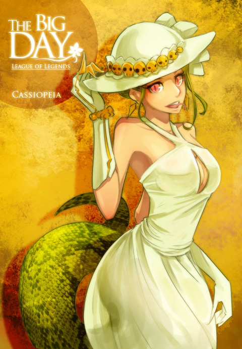 lol___the_big_day__cassiopeia_by_beanbean1988-d4zfakh