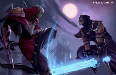 Shen-Vs-Zed-by-Kireusart-