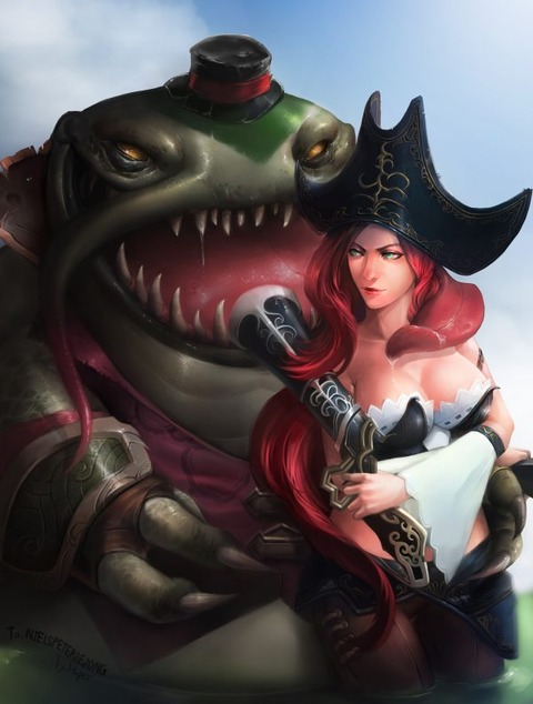 Tahm-Kench-Miss-Fortune-by-K