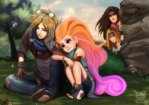 Zoe-Ezreal-Lux-Taric-by-Renciel-HD-4