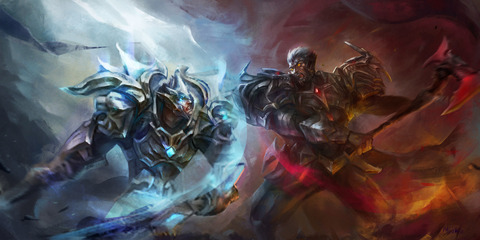 God-King-Garen-VS-Darius-by-lbsperfect-HD-Wallpa