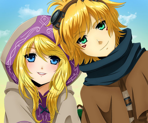 ezreal_and_lux_by_selene_galadriel-d64u3ey