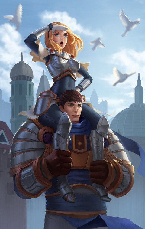 lux_and_garen_by_russellweefs-d8f51bg