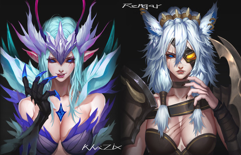 Female-Rengar-Death-Blossom-KhaZix-Genderbend-by-定点-爆破