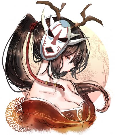 Blood-Moon-Akali-by-のら-HD-Wall
