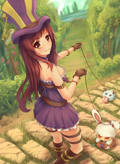 Caitlyn-Teemo-Poro-by-