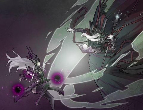 Syndra-vs-Karthus-League-Of-Legends-Fan-Art