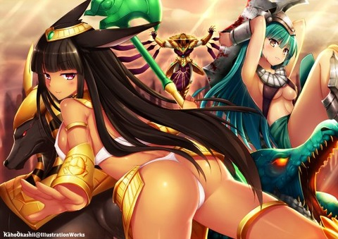 Sexy-Female-Nasus-Renekton-Azir-by-KahoOkashii-