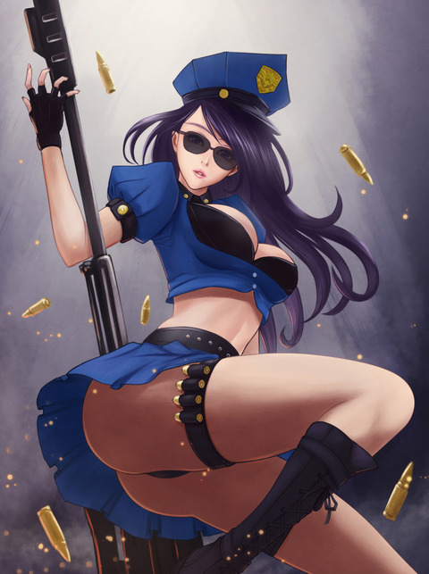 Officer-Caitlyn-by-青龍在天-HD-Wallpape