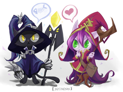 cat_veigar_and_lulu_by_inkinesss-d5b8ire