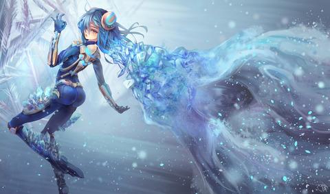 Irelia-Ice-Blade-Fan-Art-By-Pixiv