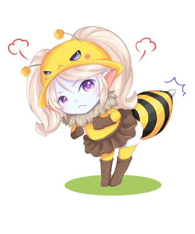 Bee-Poppy-by-めり-HD-Wallpaper