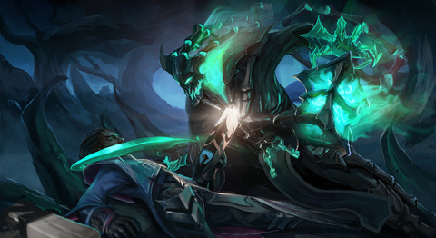 dying_of_the_light__thresh_vs_lucian__by_headcrabed-d8j50un