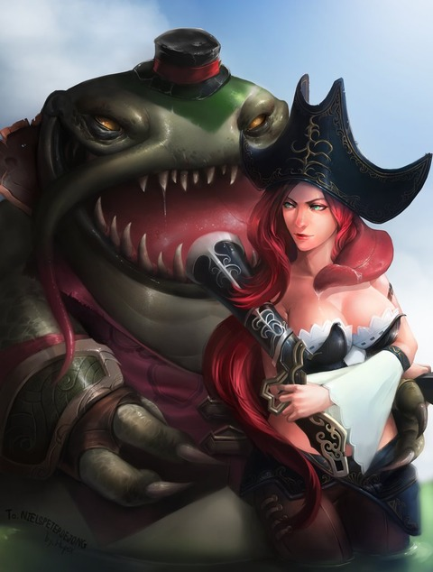 Tahm-Kench-and-Miss-Fortune-League-of-Legends-Fan-Art-190116