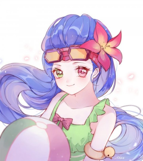 Pool-Party-Zoe-by-misononeko-HD-4k-Wallpap