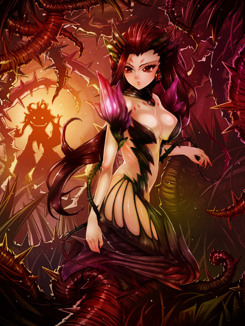 league_of_legends_fan_art___zyra_by_waterring-d7h76aj