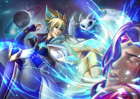 Star-Guardian-Ezreal-Vs-Taric-by-NottoMochi-
