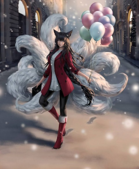 Ahri-by-ChubyMi-HD-Wall