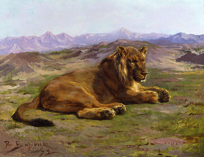 Couching Lion Rosa Bonheur
