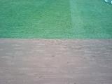 スカイマークスタジアム 天然芝と土