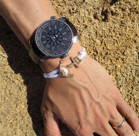 MIA's-Anchor-Bracelet-White-Swarovski-Gold