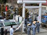 黒石神社の節分祭行列