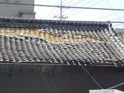 大地震後の瓦屋根