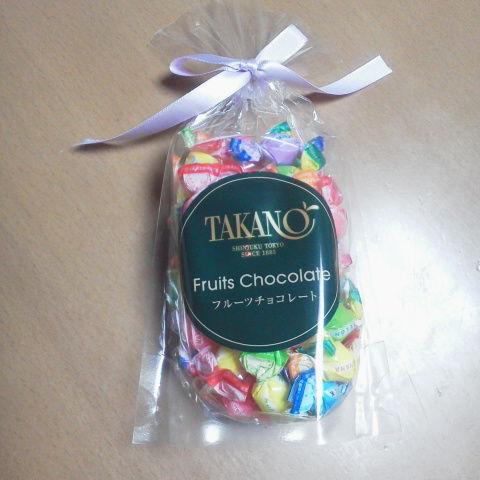 タカノフルーツのフルーツチョコレート